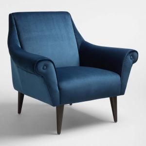 Blue Leather Chair Luxury atlantic Blue Liliana Chair by World Market