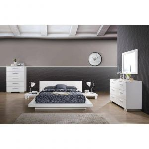 Contemporary Platform Beds Luxury Contemporary Wood California King Platform Bed In White Christie by Foa Group