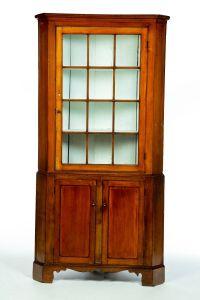 Corner Bar Cabinet Best Of Two Piece Corner Cupboard American 1st Half 19th Century