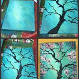 Fantastic Simple Painting Ideas for Beginners Best Of Step by Step Pink Flowering Tree Painting with Pretty Teal