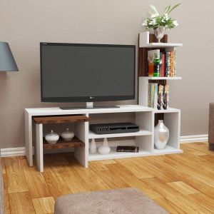 Floating Tv Stand Awesome Arzu Tv Unit White Walnut In 2020