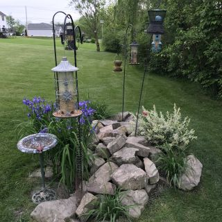 Flower Bed Design Elegant Bird Feeding Station