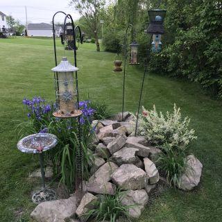 Flower Bed Design Elegant Bird Feeding Station