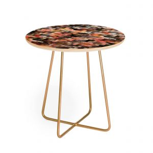 Gold Side Table Luxury Ninola Design Moody Geometry Rustic Gold Round Side Table