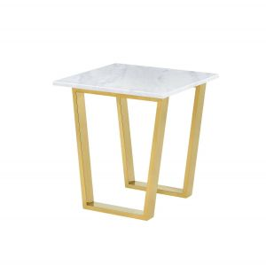 Gold Side Table New Meridian Cameron Gold White Marble Base Coffee Table
