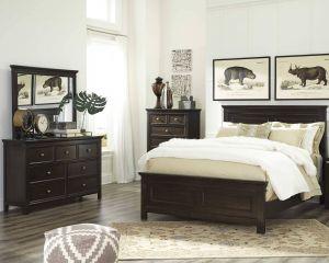 Incredible Black Furniture Awesome Alexee 5 Piece King Bedroom Dark Brown