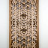 Incredible Decorative Glass Wall Panels Inspirational A Handmade Kumiko Wall Panel In Basswood and Ovangkol Wood
