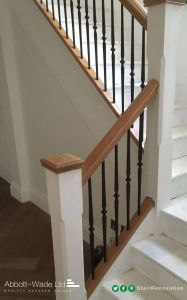 Iron Stair Railing Lovely Abbott Wade S Buckingham Spindles In Black with White Stop