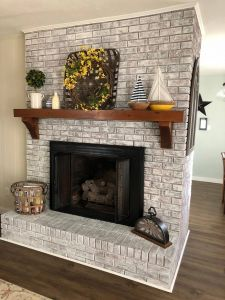 Picture Above Fireplace Awesome Painted Brick Fireplace Sw Pure White Over Dark Red Brick
