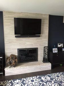 Picture Above Fireplace Elegant Our Old Fireplace Was 80 S 90 S Brick Veneer to Give It An