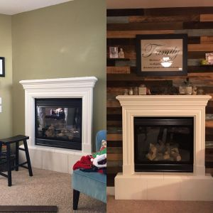 Picture Above Fireplace Elegant Reclaimed Wood Fireplace Wall