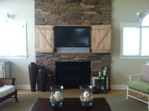 Picture Above Fireplace Inspirational Hidden Tv Over Fireplace Open Doors