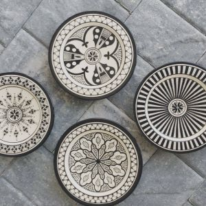 Picturesque Moroccan Decorative Wall Plates New Safi Appetizer Plate Set Of 4 Black In 2020