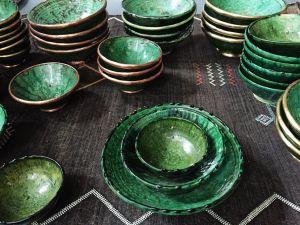 Picturesque Moroccan Decorative Wall Plates Unique Tamegroute Pottery Medium Bowl