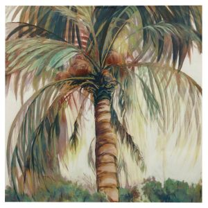 Picturesque Palm Tree Wall Decor Elegant Palm Tree Hand Painted Canvas