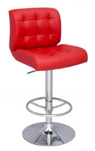 Red Bar Stools Inspirational Chintaly 0361 as Red Stitched Seat&back Pneumatic Stool In