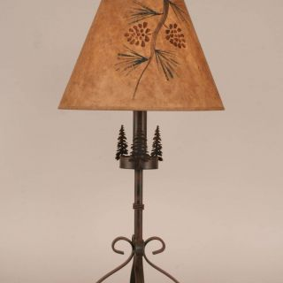 "Rustic Table Lamps Unique Rustic Living Iron S Leg Pine Tree 29 5"" Table Lamp"