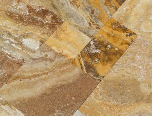 Travertine Versailles Pattern Best Of Scabos Gold Pattern Set Brushed and Filled Izmir Travertine