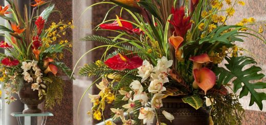 Unique Decorating with Artificial Flowers Lovely Tropical Paradise