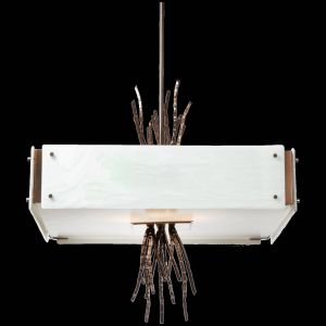 White Wood Ceiling New Ironwood Square Chandelier