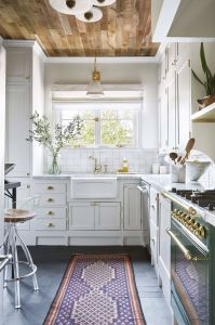 White Wood Ceiling Unique This Designer Put Wood Ceilings In Her Kitchen and We Re