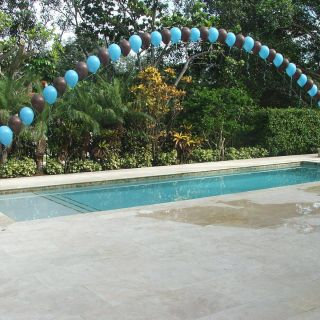 Best Of Outdoor Pool Decorations Fresh Balloon Arch Over A Swimming Pool