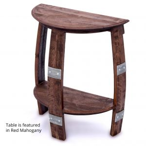 Best Of Staining Wine Barrels Luxury Wine Barrel Half Round End Table with Metal Bands
