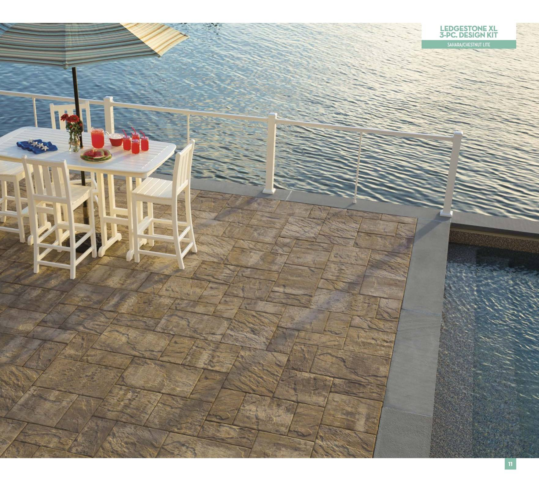 Pavers Cambridge Ledgestone XL 3 PC design Kit