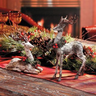 Christmas Moose Home Decor Lovely Reindeer Centerpiece Terrysvillage