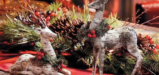 Christmas Moose Home Decor Lovely Reindeer Centerpiece Terrysvillage