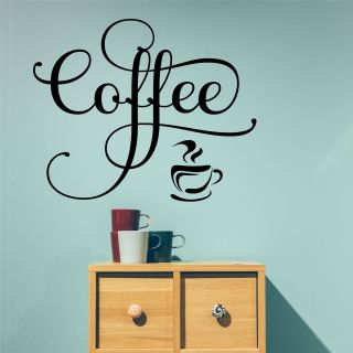 Coffee Shop Wall Decor Fresh Coffee Wall Decal Fancy Coffee Word Farmhouse Kitchen Vinyl
