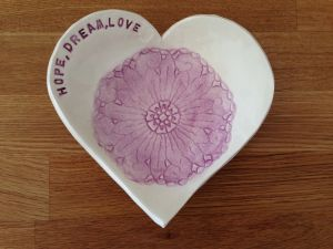 Decorative Plates for Kitchen Best Of Heart Lace Earthenware Trinket Dish