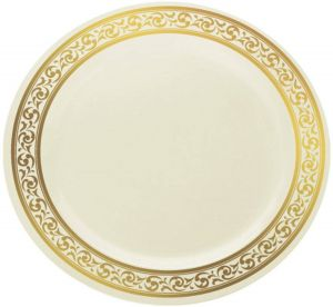 Decorative Plates for Kitchen Unique Decor Plastic Disposable Elegant Party Plates Classic