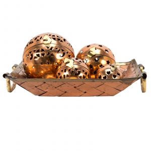 Decorative Tray with Balls Inspirational Tray Decor Rentals