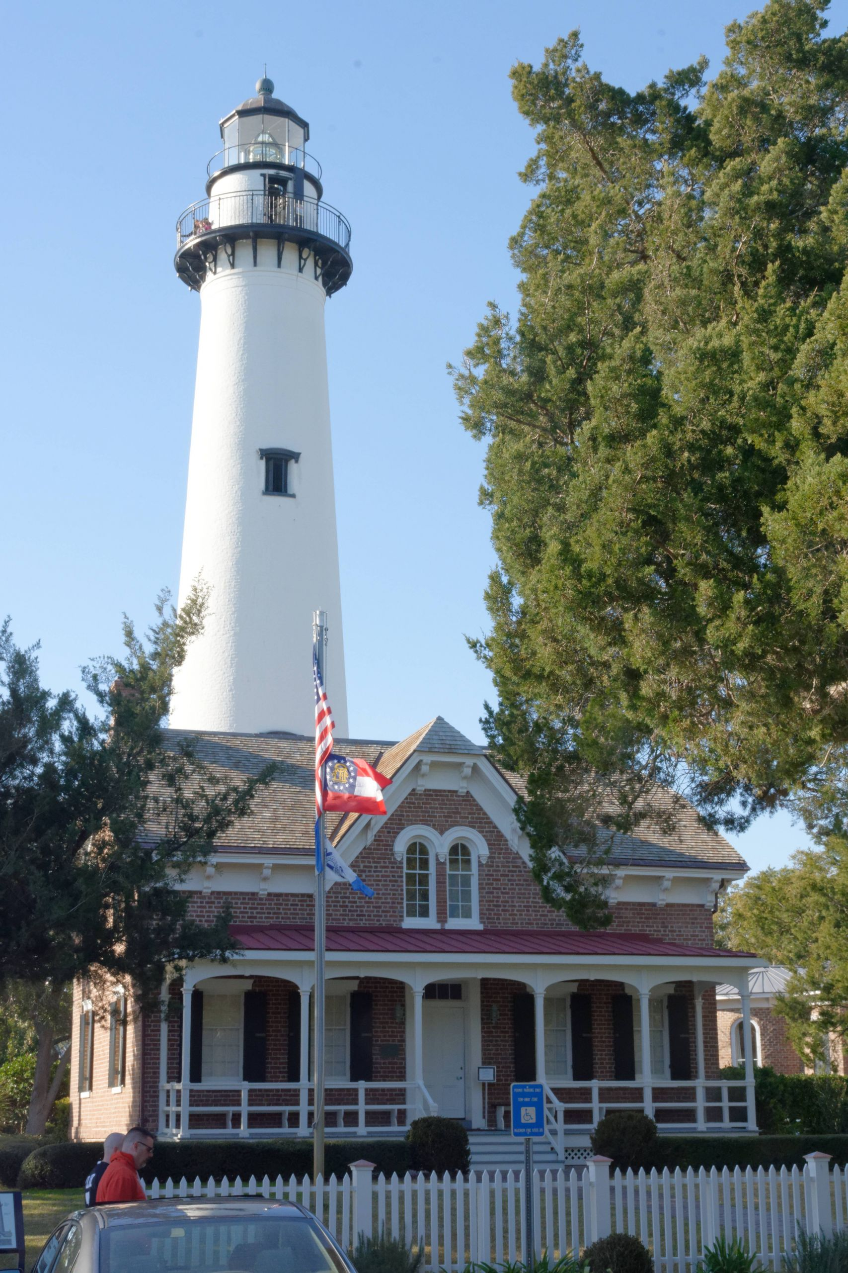 Lighthouse and museum St Simons GA USA JPG