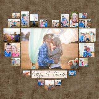 Exceptional Creative Photo Collage Ideas Unique Heart Collage Template Psd Wedding T Anniversary