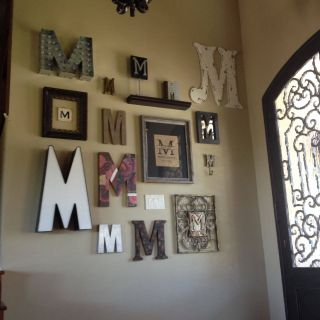 Exceptional Hallway Art Ideas Elegant Monogram Wall