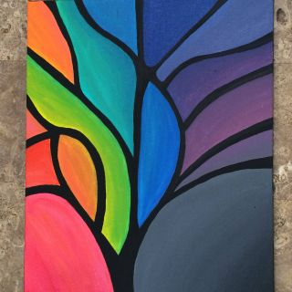Exceptional Painting Ideas for Kids Lovely Abstract Tree Painting