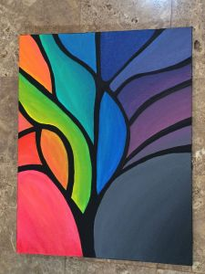 Exceptional Two Canvas Painting Ideas Beautiful Abstract Tree Painting