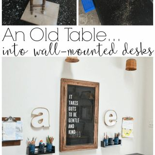 Fantastic Diy Desk Plans Fresh Reuse An Old Table to Make Wall Mounted Desks
