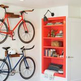 Fantastic Wooden Bike Shelf Fresh Transitional Bedroom with Bike Storage