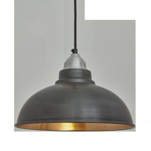 Fresh Design Industrial Light Elegant Old Factory Pendant 12 Inch Pewter & Copper