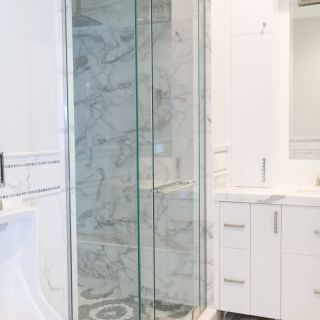 Fresh Design Shower Door Glass Luxury Frameless Clear Glass Shower Enclosure Door 2 Inline
