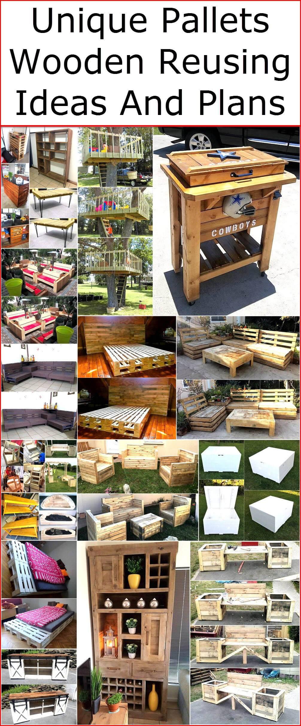 Unique Pallets Wooden Reusing Ideas And Plans