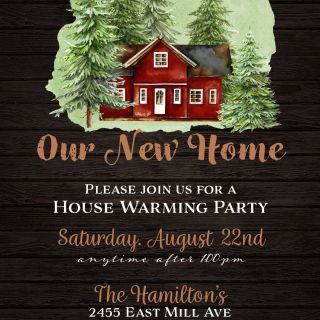 Housewarming Party Thank You Card Wording Unique Home In the Woods Housewarming Invitation In 2020