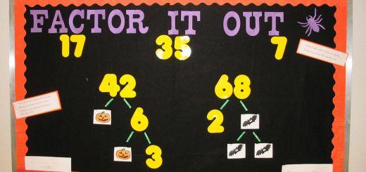 Incredible Bulletin Board Ideas Best Of Factor It Out Bulletin Board Idea