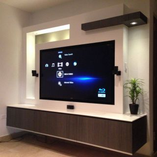 Incredible Tv Wall Unit Designs Awesome Tv In Wall