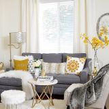 New Yellow and Grey Living Room New Grey and Mustard Living Room Ideas