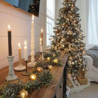 Outdoor Christmas Candle Decorations Luxury Neutral Christmas Living Room
