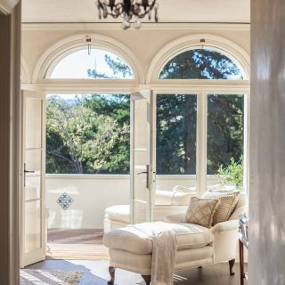 Picturesque Space Saving Door Inspirational Italianate Living Room and Patio Arched French Doors Ivory